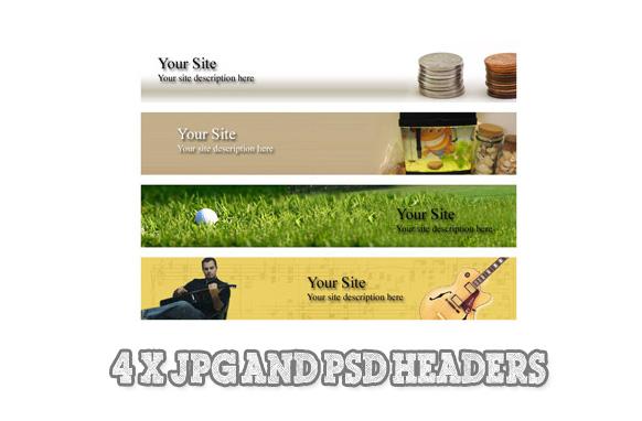 5 PSD JPG Website Headers Edition 2