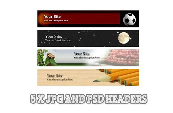 5 PSD JPG Website Headers Edition 5