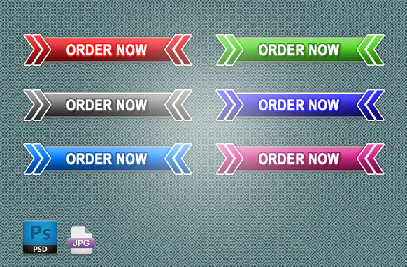 6 Retro Style Order Now Buttons