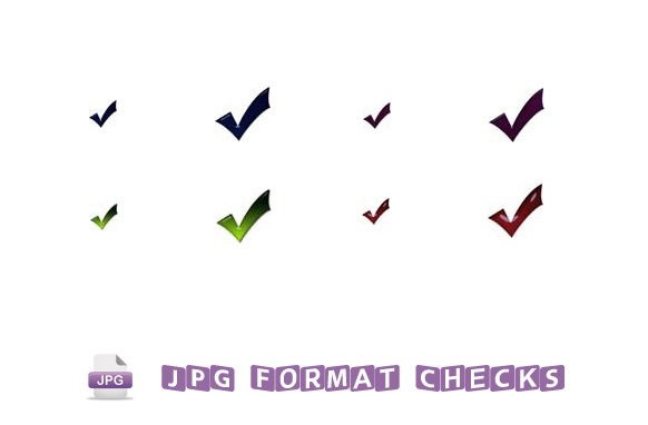 8 JPG Formatted Checks and Ticks