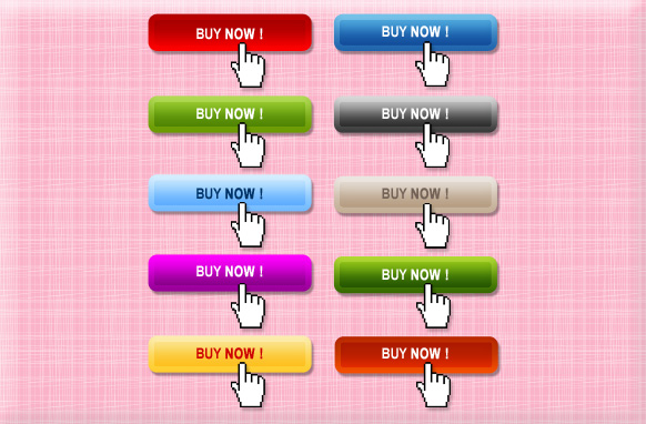 10 Stylish Buy Now Buttons PSD