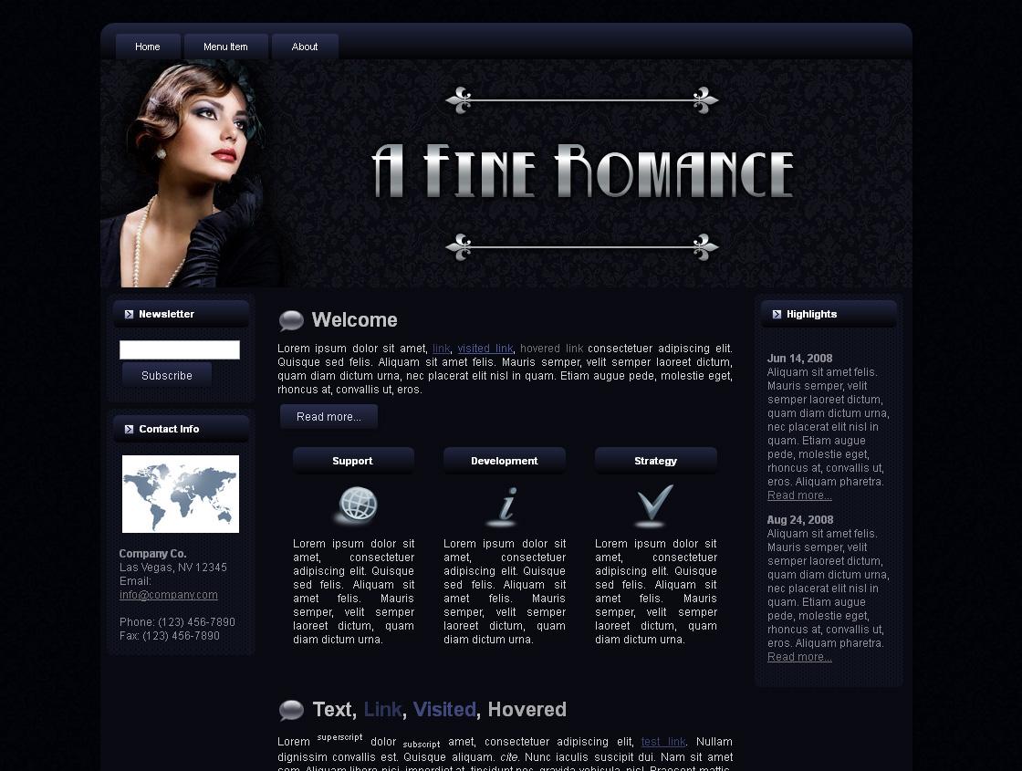 A Fine Romance Blogger Theme Edition 1