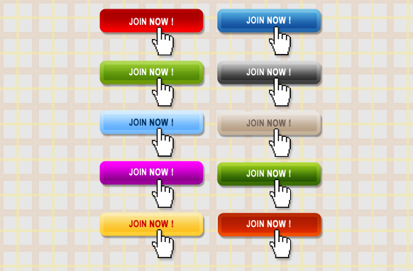 10 Stylish Join Now Buttons PSD