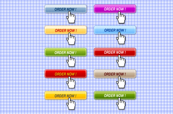 10 Stylish Order Now Buttons Edition 2 PSD