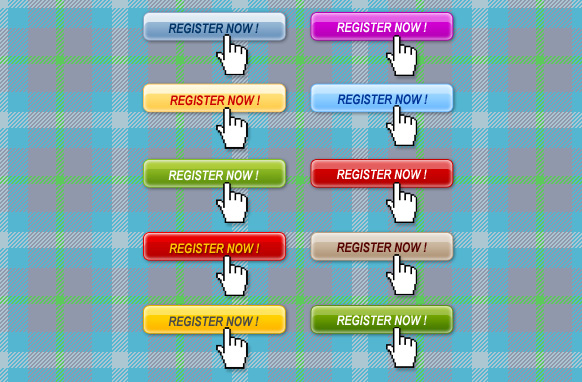 10 Stylish Register Now Buttons Edition 2 PSD