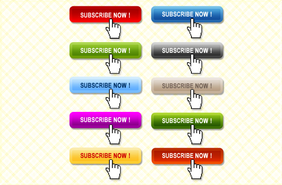 10 Stylish Subscribe Now Buttons PSD
