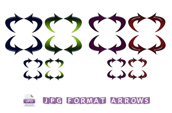 32 JPG Formatted Arrows