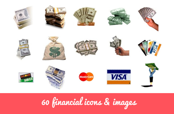 60 Financial Icons & Images