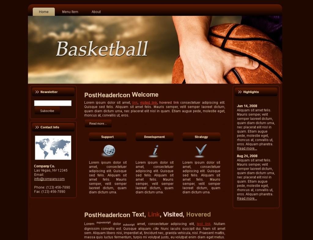 Basketball HTML Template