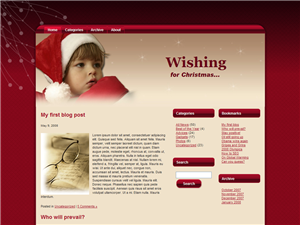 Christmas Wishing WP Theme