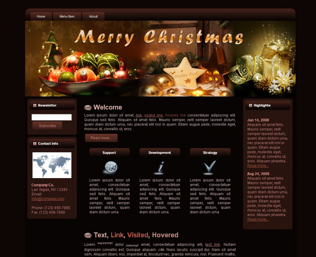 Christmas WP Theme Edition 1
