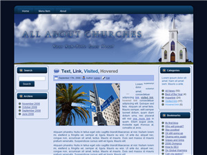 Church Blogger Theme Edition 1