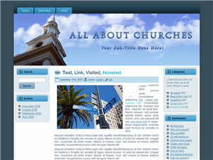 Church Blogger Theme Edition 2