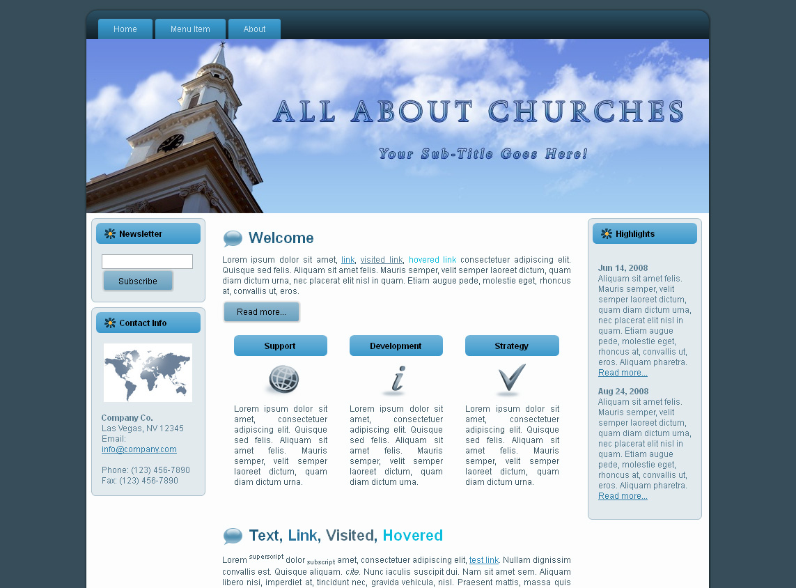 Church HTML Template Edition 2