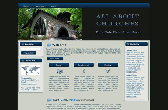 Church HTML Template Edition 3
