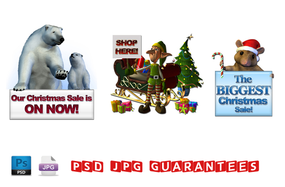 Christmas PSD JPG Graphics Pack