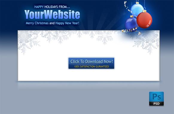 Christmas PSD Salepage Template Edition 2