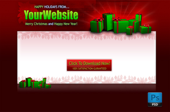 Christmas PSD Salepage Template Edition 3