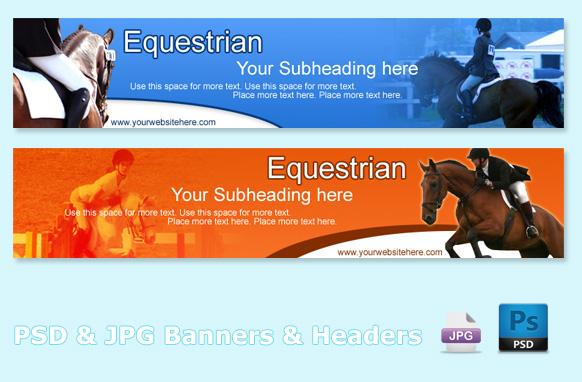 Equestrian PSD & JPG Banners & Headers