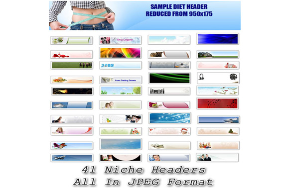 Graphical Website Headers Collection