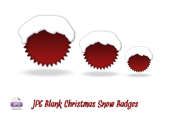 JPG Blank Christmas Snow Badges