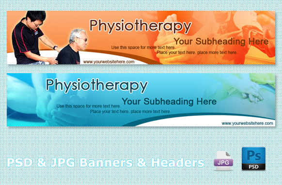 Physiotherapy PSD & JPG Banners & Headers