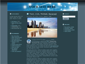 General Blue WP Theme Edition 1