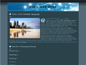 General Blue WP Theme Edition 2