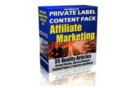 Private Label Content Pack Affiliate Marketing