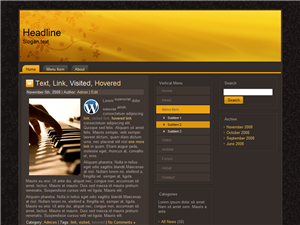 Golden Brown WP Theme