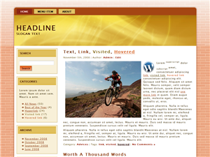 Golden Ride WP Theme