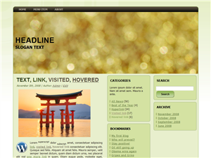 Golden Water WP Theme