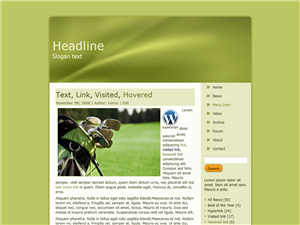 Golf Greenly WP Theme