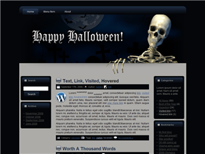Halloween Skull WP Theme