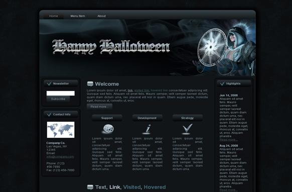 Halloween Sorceress HTML Template