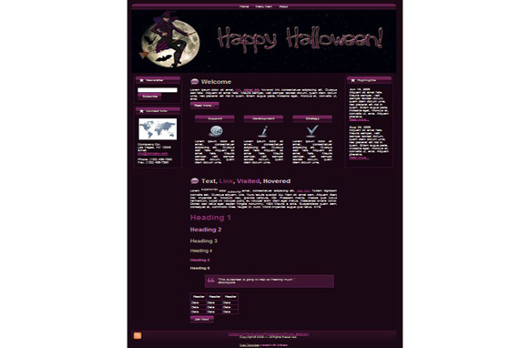Halloween Witch WP Theme