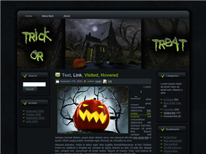 Halloween Witches House Blogger Theme