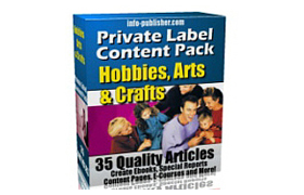 PLR Content Pack Hobbies and Crafts