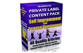 PLR Content Pack Self Improvement