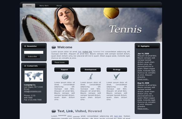 Tennis HTML Template