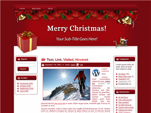 Theme For Christmas WP Theme