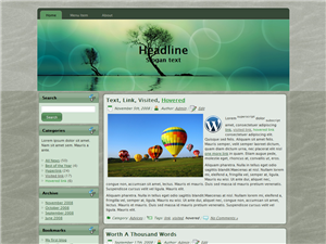 Tree Bubble WP Theme