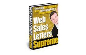 Web Sales Letters Supreme