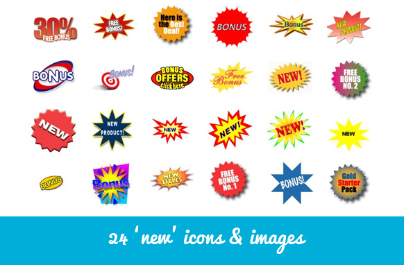 24 New Icons & Images