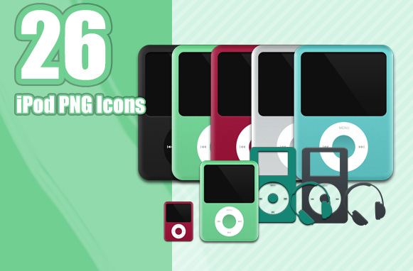 26 iPod PNG Icons