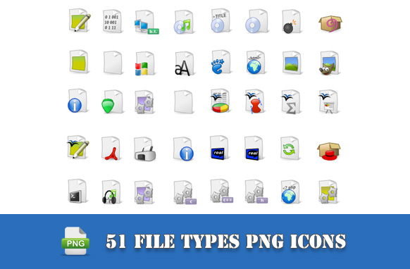51 File Type PNG Icons