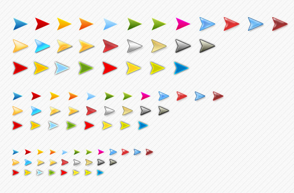 Alsorts Colored Arrows Set Edition 3 PSD