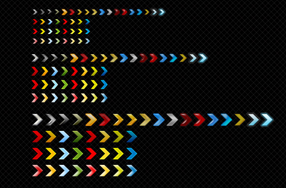 Alsorts Colored Arrows Set Edition 4 PSD
