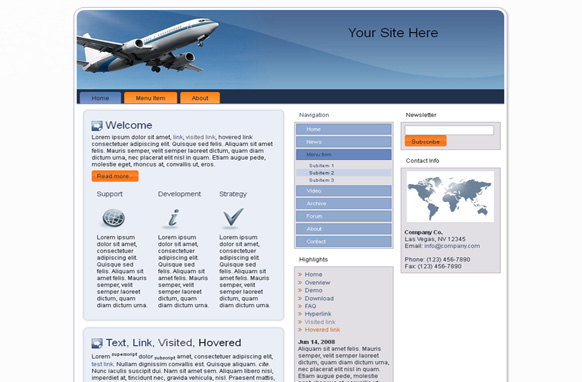 Airplane HTML Template
