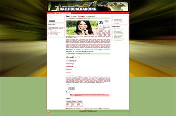 Ballroom Dancing HTML Template Edition 3